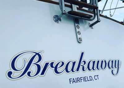 breakaway boat letters installed by and how graphics