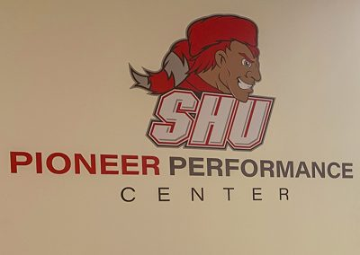 Sacred heart performance center wall graphics